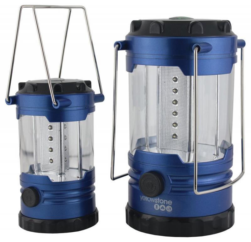 Yellowstone Family Camping Lantern Set 12 LED And 18 Twin Pack