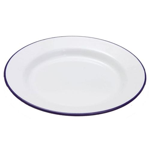 Falcon Enamel 20cm Flat Dinner Plate Camping Equipment