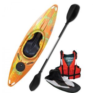 Riber Deluxe One Man Sit On Top Kayak Canoe Orange /& Black