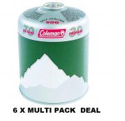 6 x Coleman C500 Propane Butane Mix Cartridge 445g Multi Pack Deal