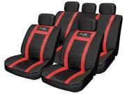 Streetwize Leather Look Seat Cover Set - Red
