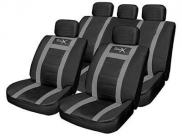 Streetwize Leather Look Seat Cover Set - Black/Grey