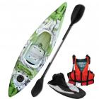 Riber Starter Pack One Man Kayak Deluxe - Green White & Black