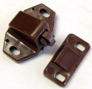 W4 Storage Door Brown Plastic Roller Catch Latch x 1 Caravan Motorhome