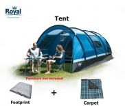 Royal Welford 4 Tunnel Tent, Package Price Includes Footprint And Carpet