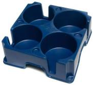 Muggi Multi 4 Cup Holder Non Slip Base Navy Blue Caravan Camping