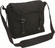 Highlander BLACK Army Military Webbing Haversack Messenger Bag