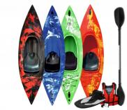 Riber One Man Kayak Starter Pack Red Yellow Kayak