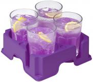 Muggi Multi 4 Cup Holder Non Slip Base Purple Cup Holder