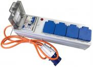 Leisurewize 4 Way Mobile Mains Unit RCD Lead Power Hook Up
