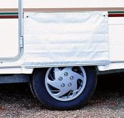 W4 Single Version Awning Skirt Wheel Cover - White