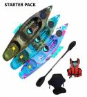 Riber Starter Pack Lake Blue Purple White Sit On Top kayak With Porthole