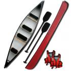 Riber 4 Seater Open Canoe Red Family Starter Pack