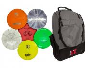 Disc Golf UK Taster Bag - 2X Putters, 2X Midrange, 2X Drivers & Bag Frisbee Golf