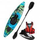 Riber Blue Green & Black Starter Pack One Person Sit In Kayak White Water Tourer