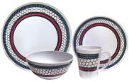 Leisurewize Honeycomb 16pc 100% Melamine Dinner Set