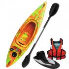 Riber Starter Pack One Man Kayak Deluxe Orange Green & Yellow