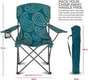 Highlander Paisley Teal Moray Camping Chair Canvas Seat