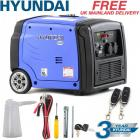 Hyundai Generator Petrol Portable Suitcase Inverter REMOTE START 3kw 4kVa 3200w