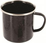 Highlander Black Deluxe Enamel Mug Stainless Steel Metal Cup