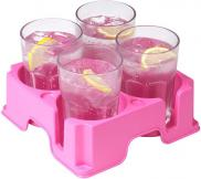 Muggi Multi 4 Cup Holder Non Slip Base Pink for the Ladies