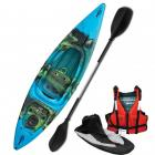 Riber Starter Pack One Man Kayak Deluxe Blue Green & Black
