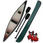 Riber 16 Three Seat Canoe Green Starter Pack