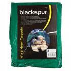 Blackspur Tarpaulin 4 x 6ft (1.2 x 1.8m) Green Groundsheet