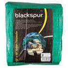 Blackspur Tarpaulin 12 x 18ft (3.6 x 5.4m) Waterproof Ground Sheet