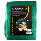 Blackspur Heavy Duty Tarpaulin 18 x 24ft ( 5.4m x 7.2m) Waterproof Ground Sheet