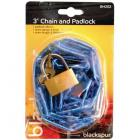 Blackspur 3' Chain with 38mm Padlock