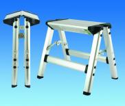 Pennine Folding 150Kg Capacity Double Sided Aluminium Steps Stool
