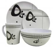 Leisurewize Abstract 16 Piece Melamine Dining Picnic Set