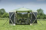 Quest Instant 6 Sided Spring Up Screen House Multi-Use Gazebo